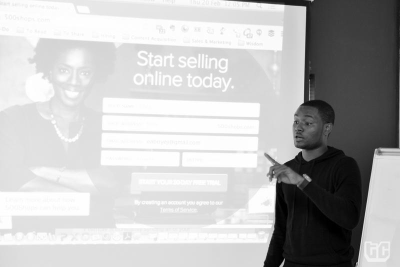 Demo Day_8- Clive Ayonye representing 500Shops