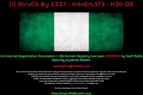 NIRA Website Defaced