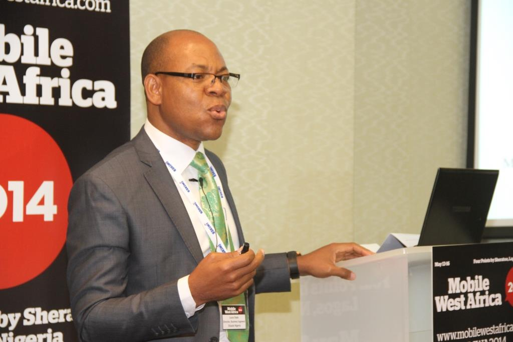Director, Business Segments, Etisalat, Lucas Dada speaking at the Mobile West Africa 2014 Conference