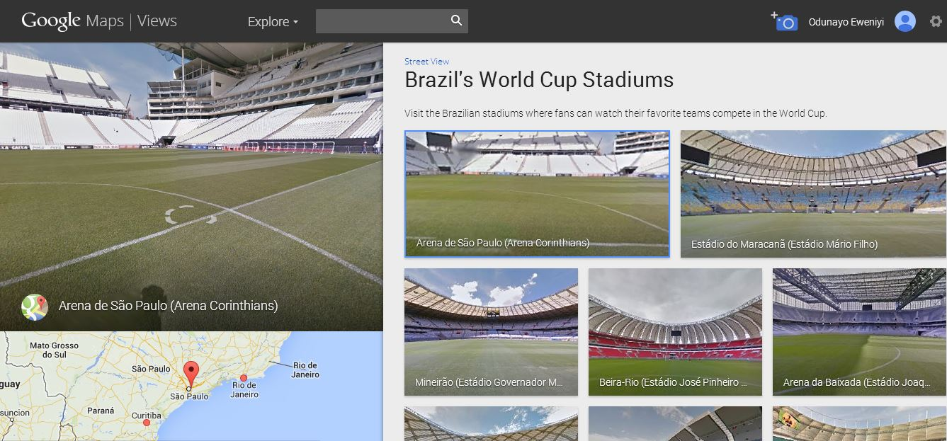 Tour brazils world cup stadiums with google maps techcabal and if you are going to brazil to get the first hand experience you can use the google maps public transit data which is available in all 12 host cities gumiabroncs Image collections