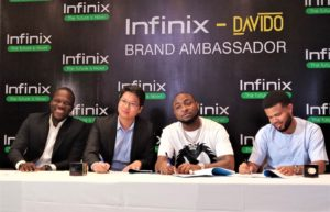 A Collaboration Of Premium Entities – INFINIX Mobility Limited Signs Celebrity Music Artiste, Davido As Brand Ambassador