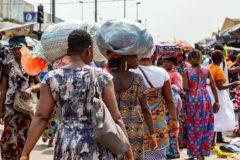 Market in Abidjan Africa