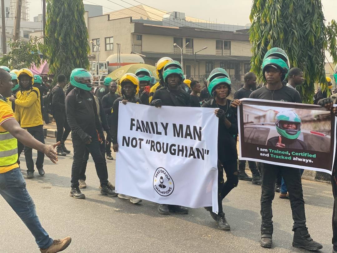 "In Lagos, Gokada and MAX.ng riders take to the streets to protest ""okada ban"" - TechCabal"