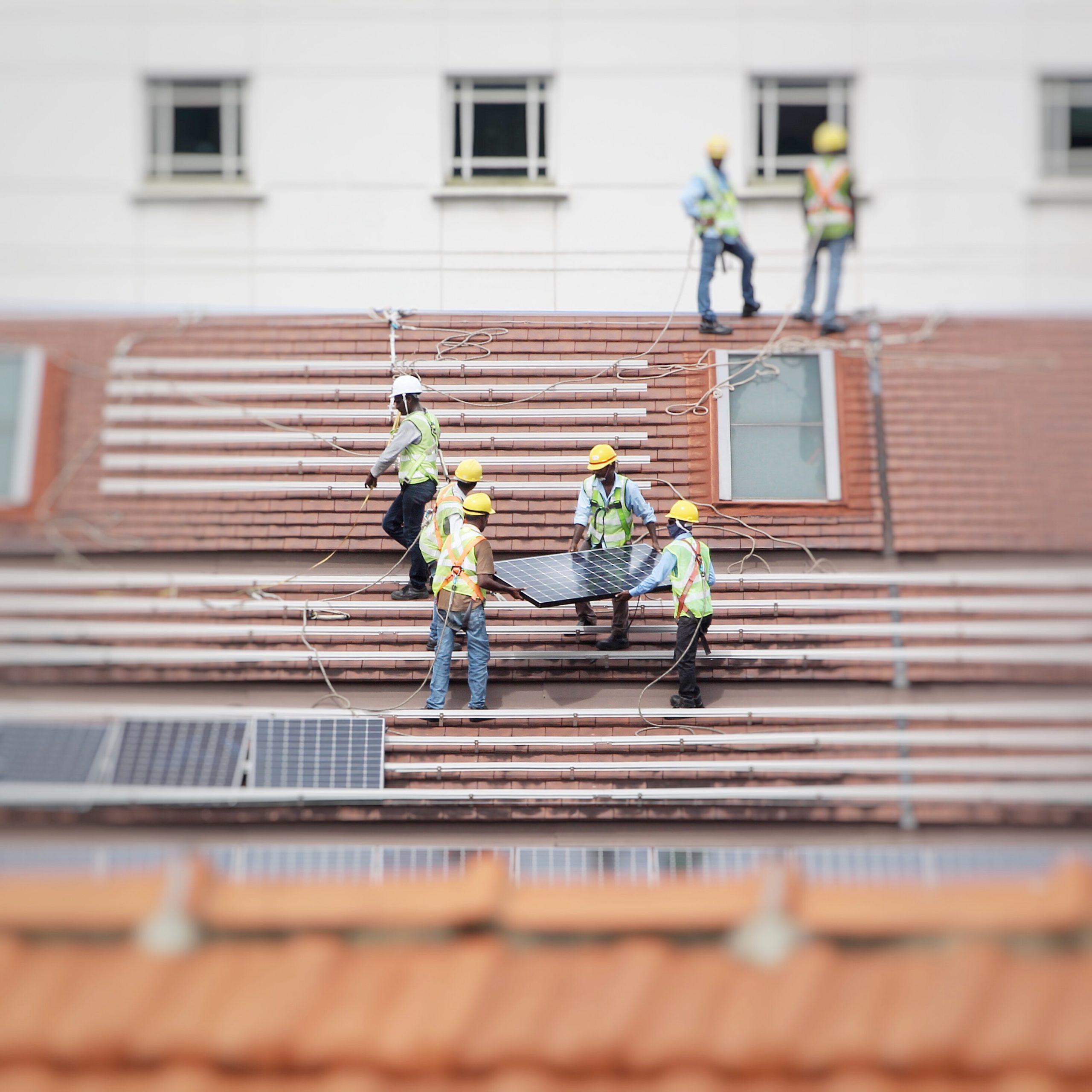 Solar panel installation outdoor