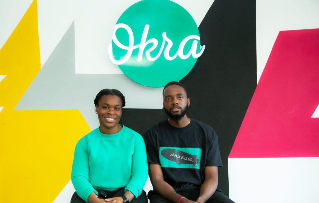 Okra Co-Founders, Fara Ashiru Jituboh and David Peterside