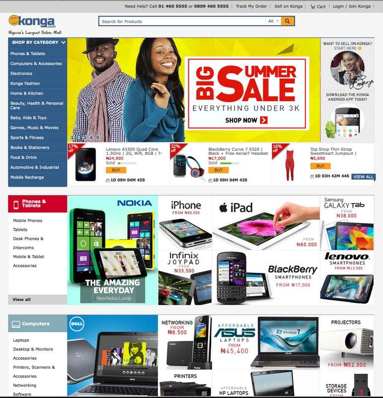 Konga-homepage