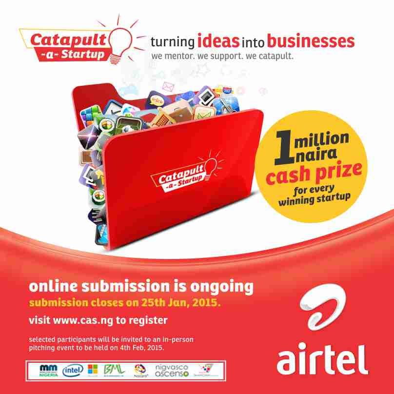 Entries for Airtel Catapult-a-Startup Close on 25 Jan
