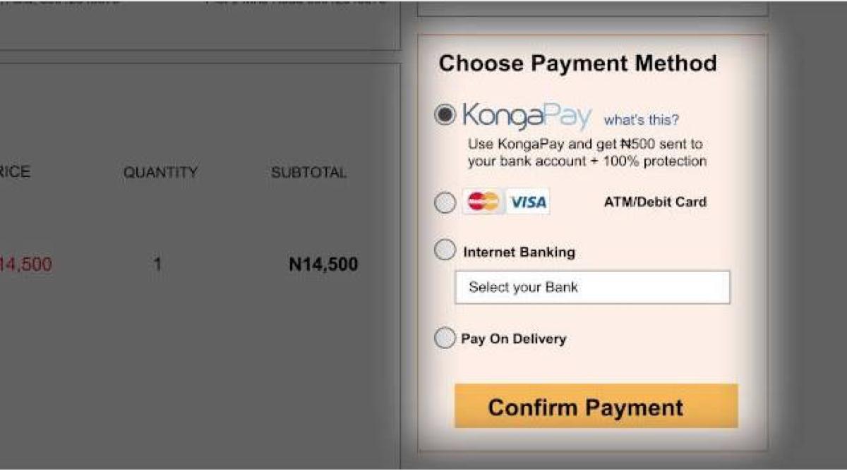 Konga pay
