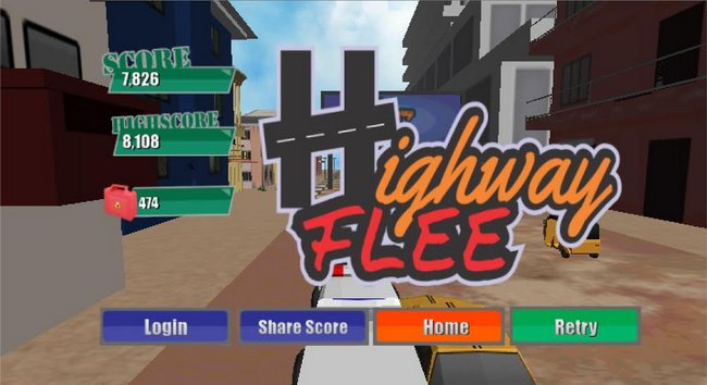 Highway Flee is a Lagos-themed Endless Runner