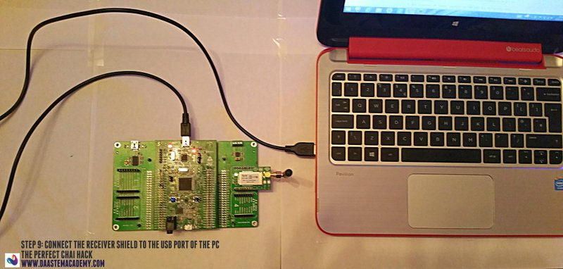 09 Chai - Receiver shield to USB port