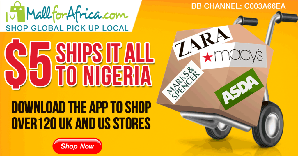 $5 ships it all to Nigeria from UK and US stores on MallforAfrica.com