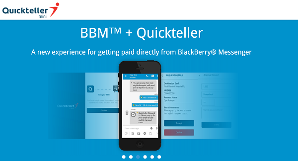 You can now access quickteller services right inside your BBM