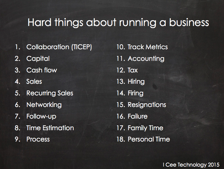 18 hard things