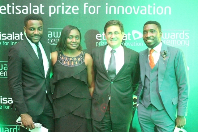 Ebuka Obi-Uchendu, Modupe Thani, Head, Events and Sponsorship, Etisalat Nigeria, Matthew Willsher, CEO, Etisalat Nigeria and Timi Dakolo