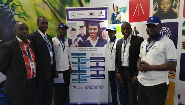 Left to right: Mr. Nshimirimana Polycarpe (WDA), Dr. Rusagara Innocent (WEC), Mr. Muhigirwa Michel (WEC Student), Mr. Dukuzumukiza Cedecias (WEC Student), Mr. Roti Balogun (Ericsson), Mr. Nicholas Banura Aine (WEC)