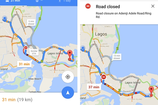 Google Maps in Nigeria Now Displays Real Time Traffic Data ...