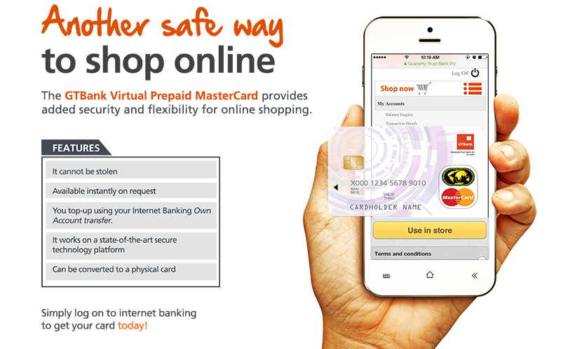 GTBank Launches a Virtual Prepaid MasterCard