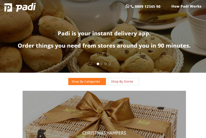 Here's a quick one: Padi.ng promises to deliver your orders in 90 minutes