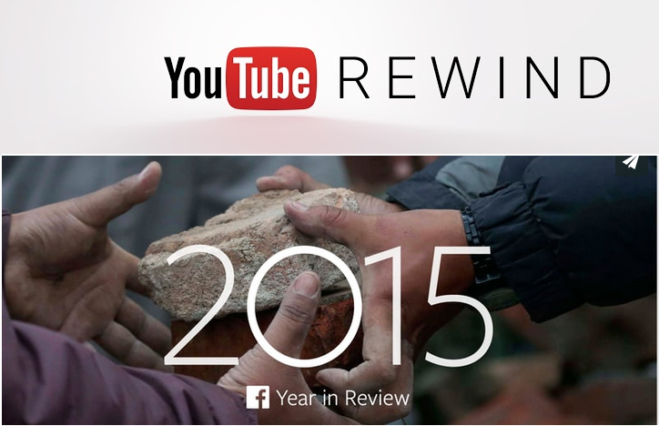 YouTube and Facebook Look Back At 2015 In Videos