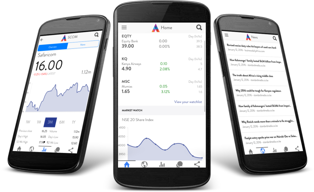 Abacus' New Android App Let's You Track the Nairobi Stock Exchange On the Go