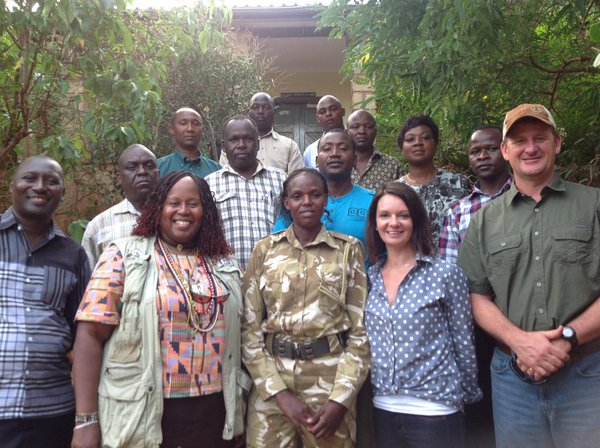 The tenBoma team, with participants from IFAW, the Kenya Wildlife Service and American Geographical Society