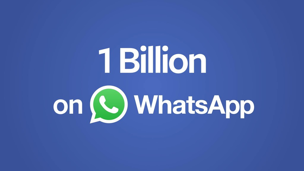 "At over 1 billion users, WhatsApp is now a ""usercorn"""