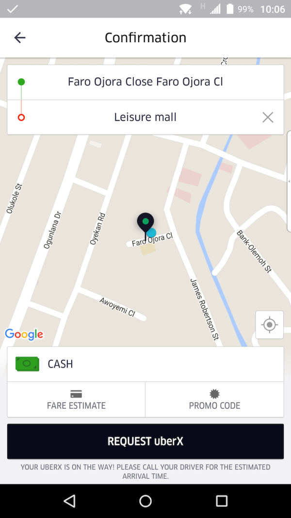 You can now hail an Uber in Nigeria from within Google ...