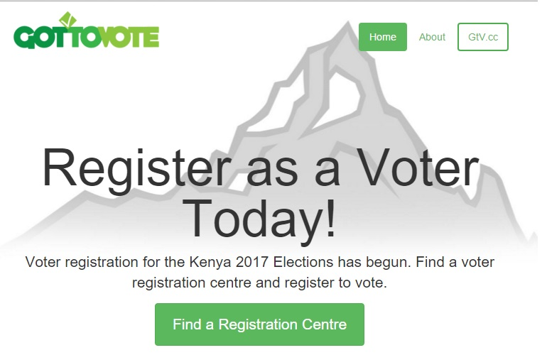 This website is using publicly available data to help Kenyans register to vote