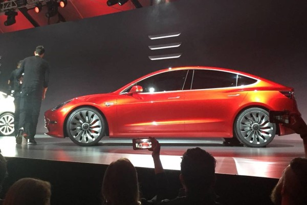 Tesla has unveiled the Model 3, it's first mass market car and it looks amazing.