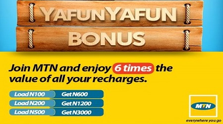 MTN Subscribers To Enjoy Yafun Yafun Bonus