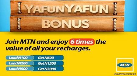 MTN Subscribers To Enjoy Yafun Yafun Bonus