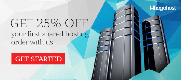Whogohost offers discount to first time users