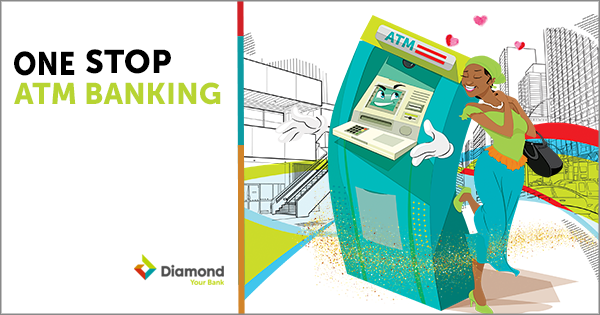Looking for that Multi-purpose ATM for all your transactions? Diamond Bank provides you that ONE-STOP ATM