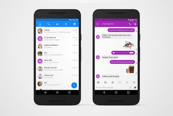 Facebook has added SMS services to Messenger for Android