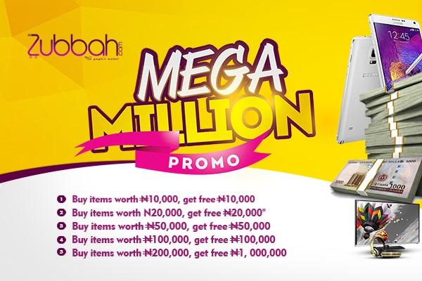 Win Millions Of Cash By Shopping On Zubbah.com