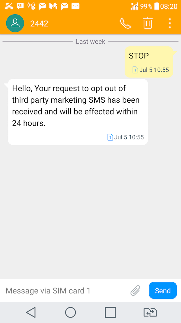 "Etisalat. ""Third party"""