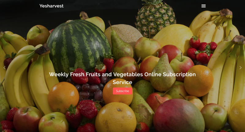 Yesharvest is Spotify for fresh fruits and vegetables