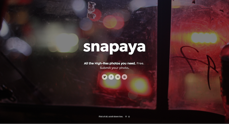Bloggers who blog should check out this free hi-res photo repository called Snapaya