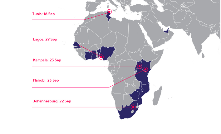 This year's Innovating Justice Boostcamps are happening in 5 African cities this September