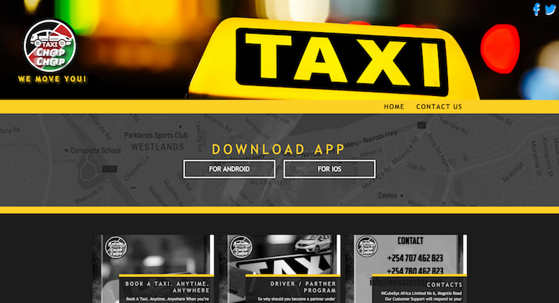 Enter, Taxi Chap Chap to compete with Uber and Little for the Kenyan ride hailing market