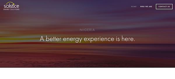 Solstice Energy Solutions wants to help Nigerian homeowners manage their power supply better