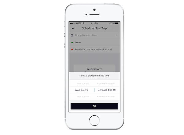 Uber now lets you schedule rides in advance