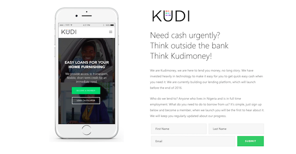 Introducing Kudimoney, an online credit service for Nigerians who want short-term loans