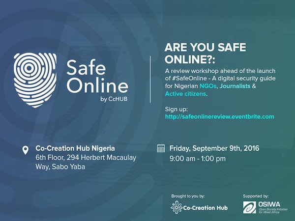 CcHub is hosting another digital security workshop in Lagos this Friday