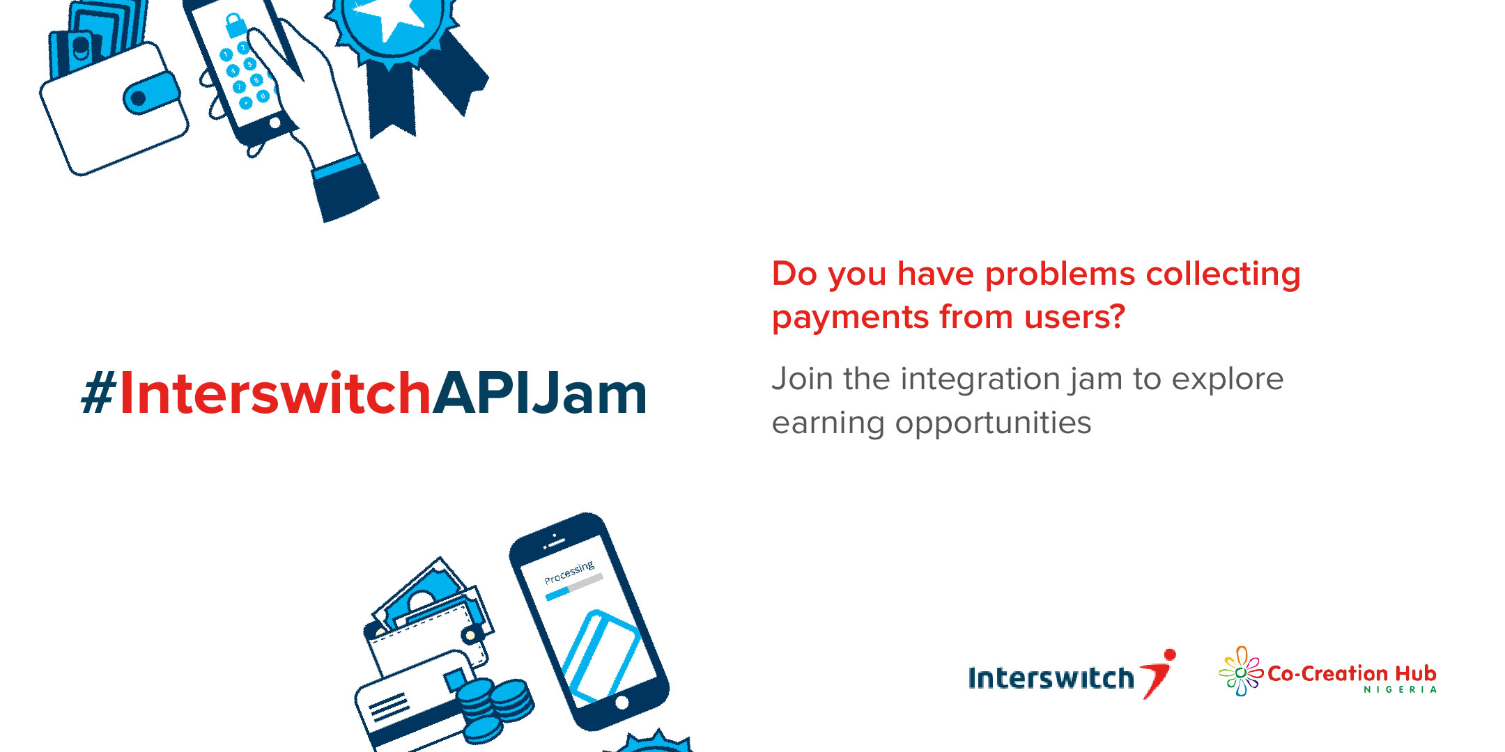 CcHub and Interswitch are hosting an API Integration Jam for developers in Lagos this October