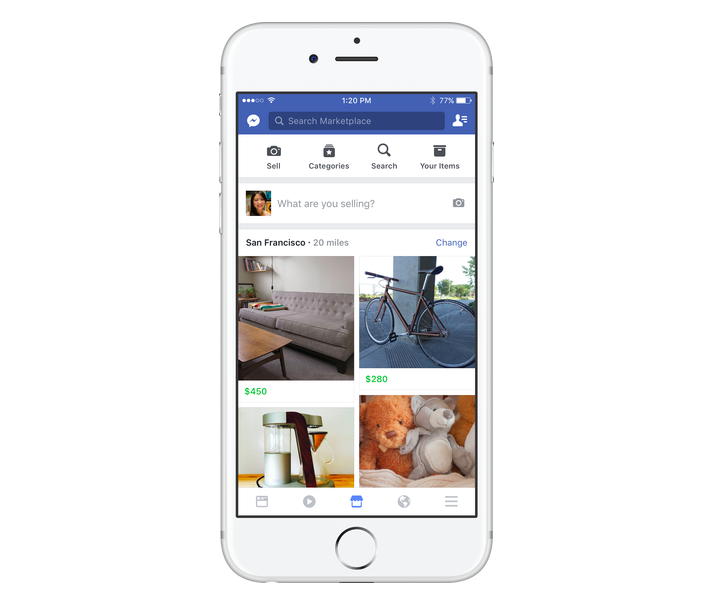 Facebook's New Marketplace Tab Will Let You Buy And Sell Stuff Within The App