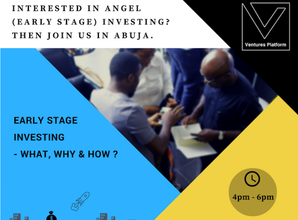 Ventures Platform is Organising an Event for Angel Investors in Abuja this November