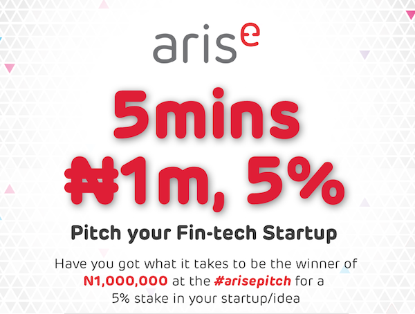 Applications are open for the first Arise pitch competition happening this year