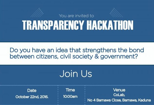 BudgIT is hosting a transparency hackathon at CoLab tomorrow