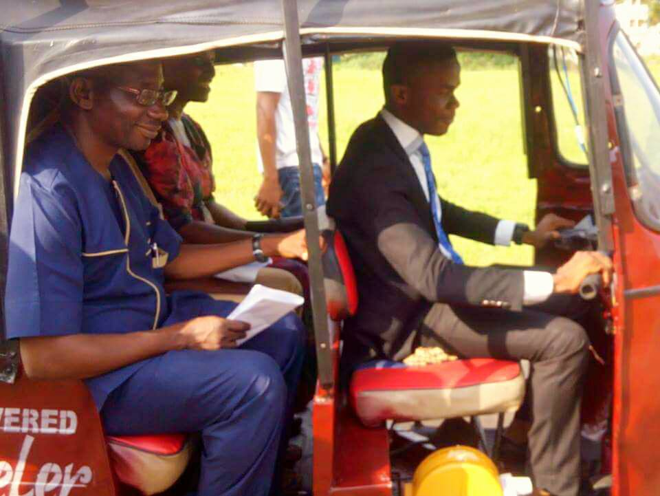 This Nigerian student built a solar-powered tricycle for his final year project